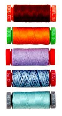 Are you choosing the right thread for your quilting? Check out our survey of various quilting threads in Quilters Newsletter August/September 2013