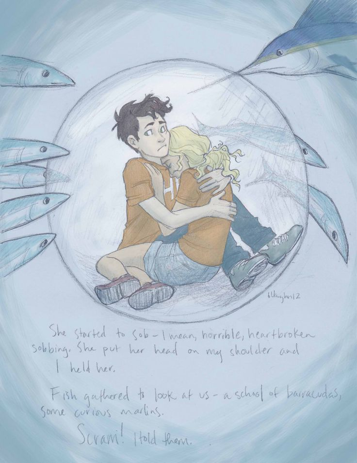 I loved this scene in Sea of Monsters, and I love how well the artist captured little Percy and little Annabeth. So cute ^^