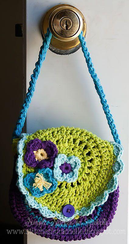 Sweet Little Girls Crochet Purse via Etsy