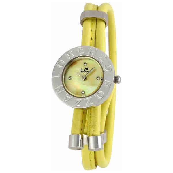 LP Italy by Lucien Piccard Bolero Ladies Watch with Yellow Bracelet ($219) ❤ liked on Polyvore featuring jewelry, watches, lucien piccard watches, water resistant watches, engraving watches, engraved jewelry and yellow watches