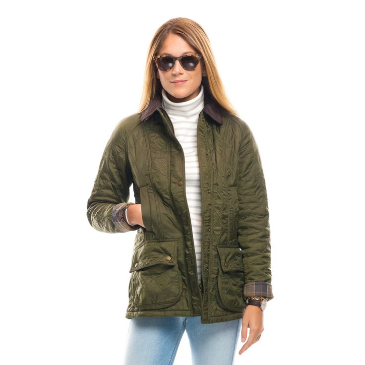 Barbour 174 Olive Beadnell Polarquilt Jacket Clothesminded