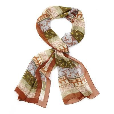 'Cuypers' silk scarf  This 100% silk scarf was woven exclusively for the Rijksmuseum. The design is based on decorations in the Rijksmuseum of architect Pierre Cuypers (c. 1885).