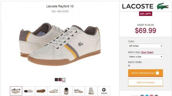 Распродажа обуви Lacoste на 6pm  Подробнее о магазине 6pm и как купить: http://okidoki.com.ua/katalog-magazinov/odegda-obuv/54-6pmcom #6pm #lacoste