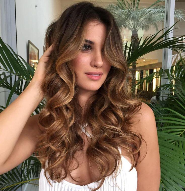 Light Brown Balayage Curly Hair
