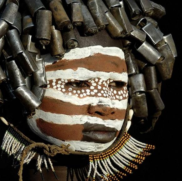 Africa    A Surma child.  Ethiopia.