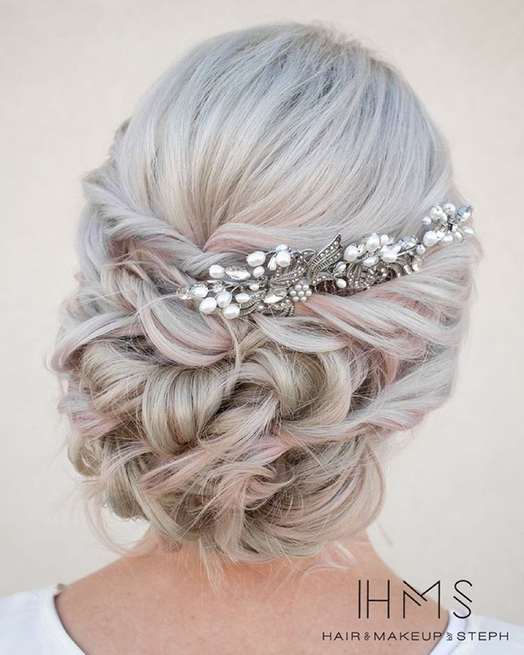 in love with this twisted wedding updo!!! ~ we ❤ this! moncheribridals.com