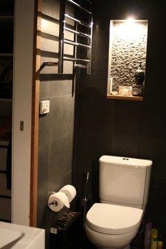 Blue stone tiled ensuite for relaxing the soul - asian - bathroom - sydney - Teal Sea Design