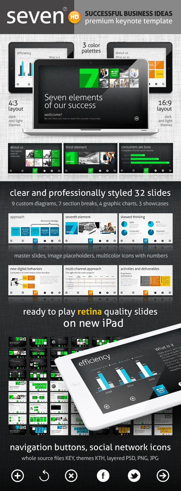 Seven Keynote Template - Keynote Templates Presentation Template. Download here: http://graphicriver.net/item/seven-keynote-template/2155906?s_rank=873&ref=yinkira