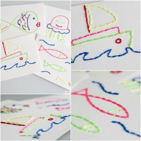 Embroidered Postcards   Lesson Plans   CraftGossip.com