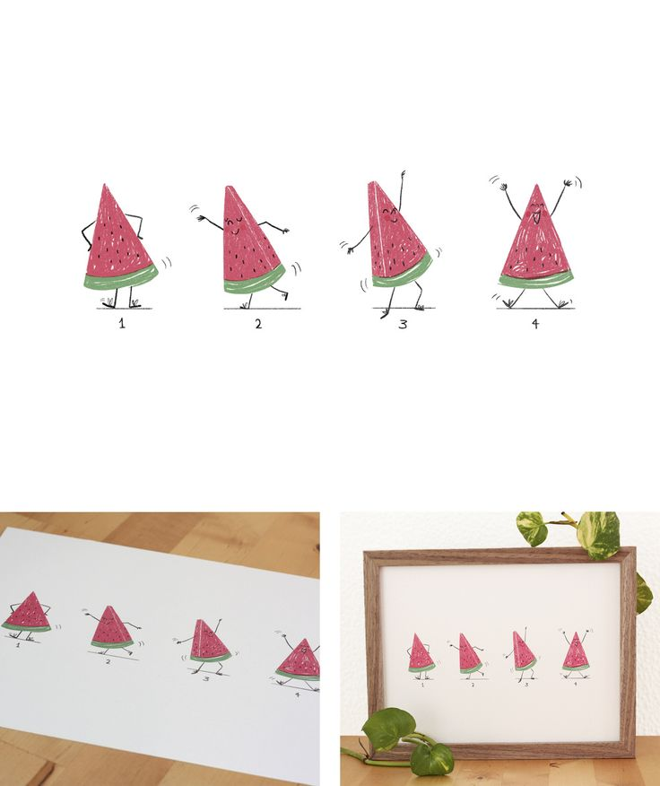 Sandía Bailonga - Ro Ledesma Illustration & Design