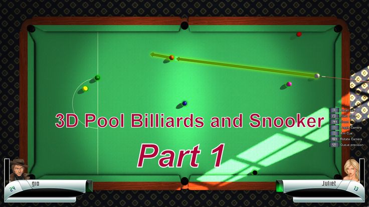 3D Pool Billiards and Snooker (Part 1)