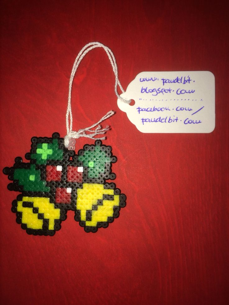 Christmas ornament hama beads by Isaac Borras
