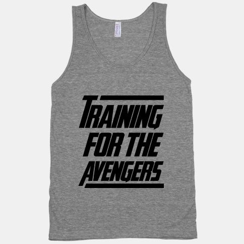 #NerdAlert ...Training for the Avengers - I would totally wear this when working out.
