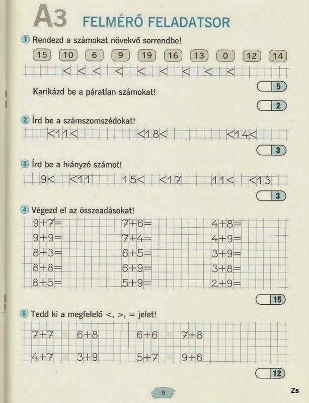 Albumarchívum - Matek felmérő mozaik