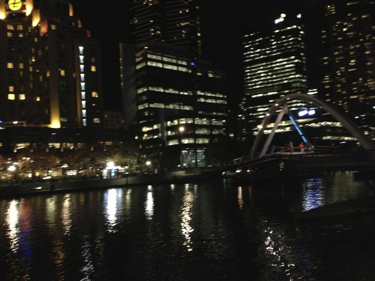 Southbank view of Melbourne at Night