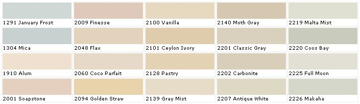 Paint Color Chart House Paint Colors And Interior Walls