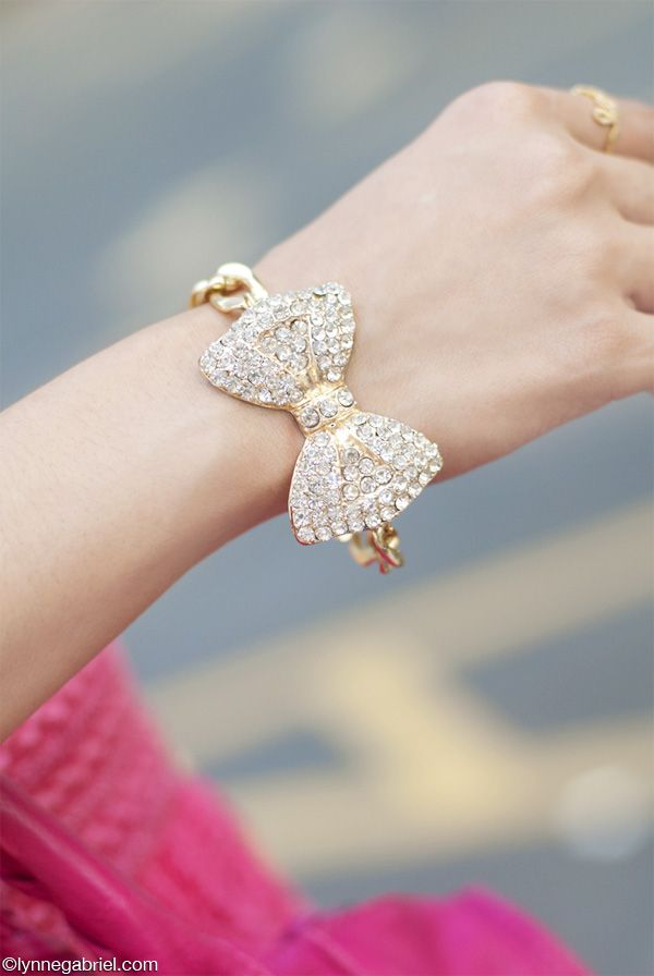 Deb Shops #bow #bracelet @Lynda Wood Garrett I want one like this so bad!!!! :(