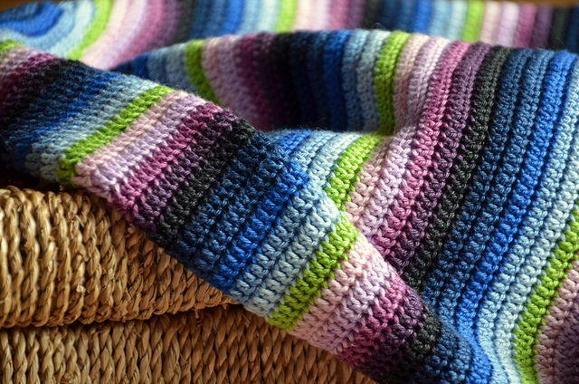 Striped Crochet blanket