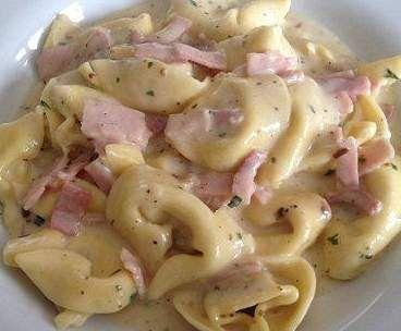 Rezept Schinken-Sahne-Soße für Tortellini von Brutzelhexe - Rezept der Kategorie sonstige Hauptgerichte
