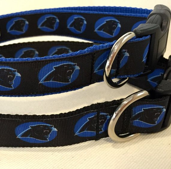 NFL Carolina Panthers Dog Collar and leash by SewEpicGifts