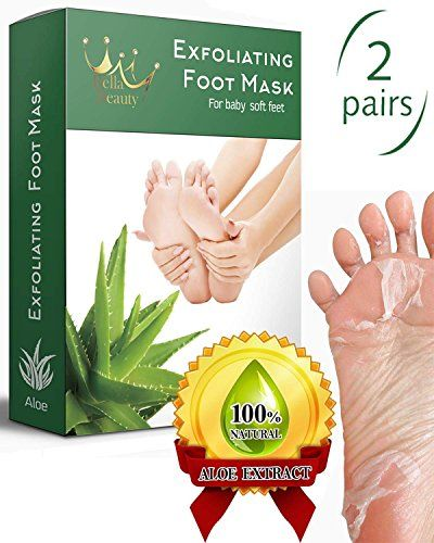 #Exfoliating #Foot #Peel #Mask for #Soft, #Smooth #Feet - #2 #Pairs #Feet #Peel #Mask, #Peeling away #Calluses and #Dead #skin #cells. #Peel Your #Feet in 1-2 #weeks. All- #natural #Aloe #Extract. - #SOFT BABY #FEET IN JUST 1-2 WEEKS! Moisturize your #feet #skin, remove aged cuticle and #dead #cells, leave #feet #skin #soft and smooth! - CONTAINS ALL-NATURAL INGREDIENTS and powerful botanical extracts that #peel away #dead #skin without harsh scrapping and scrubbing. Save for