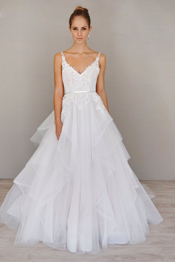 Alvina Valenta '9605' size 14 new wedding dress front view on model
