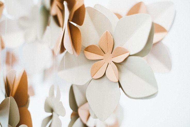 Nude spring blossom falls made by Edinas paper everydays