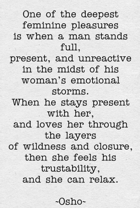 It's weird because it totally works this way with us. I'm crazy he holds me I'm good lol