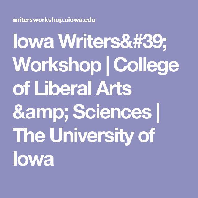 Iowa Writers' Workshop | College of Liberal Arts & Sciences | The University of Iowa