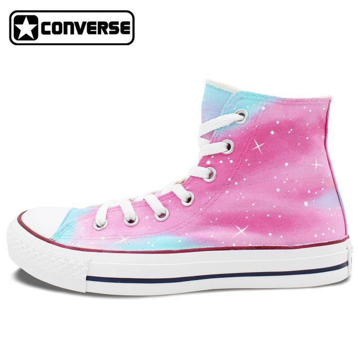 Mujeres hombres converse chuck taylor hombre mujer zapatos pink galaxy diseño original pintado a mano zapatos zapatillas de chicos chicas regalos