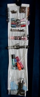 Hair supply Organizer from an inexpensive purse holder!