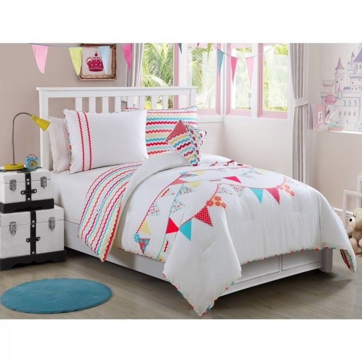 Girls Comforter Set Bed In A Bag Kids Bedding Sets Shams Sheets Full 4 Piece New #VCNY