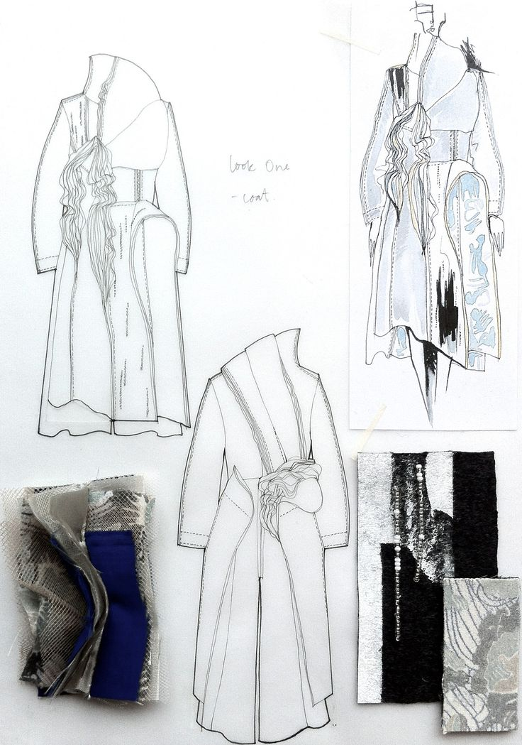 Fashion Sketchbook - fashion design drawings and textiles samples - fashion sketches; fashion portfolio layout; collection development // Connie Blackaller
