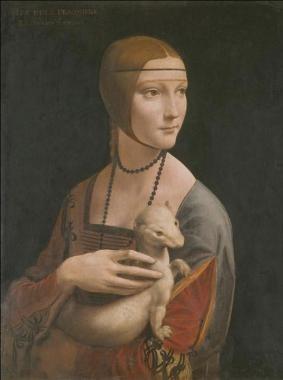 Portrait Of A Lady With An Ermine by Leonardo Da Vinci, 1452-1519