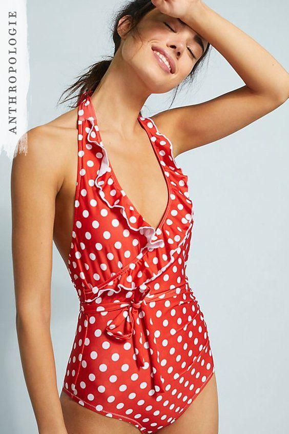 7dbc5da138513 Polka Dot Halterneck Swimsuit   Love to Wear: Summer Fashion   Polka ...