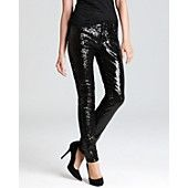 Aqua Jeans - Full Sequin Skinny Jeans in Black......I need these