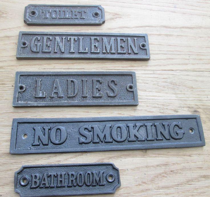 OLD ENGLISH VINTAGE VICTORIAN DOOR SIGNS NOTICE PLATE PLAQUE