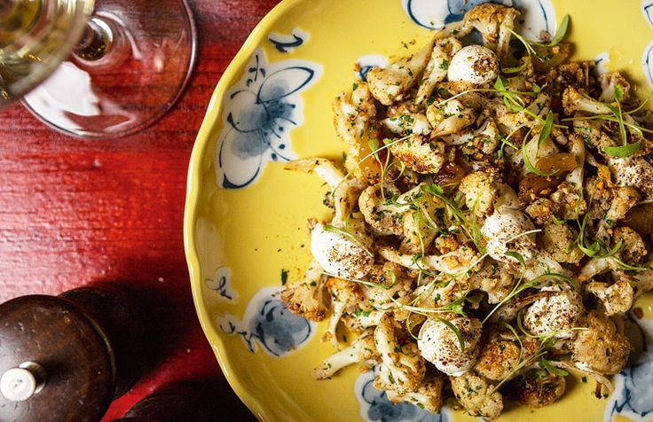 Roasted cauliflower & golden raisins at Syracuse. Photo: Chris Hopkins