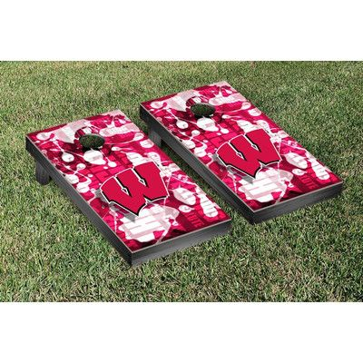 Victory Tailgate NCAA FIght Song Version Cornhole Game Set NCAA Team: Wisconsin Badger