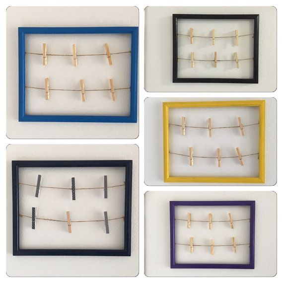 Clothespin Picture Frame open frame picture display by PeavyPieces