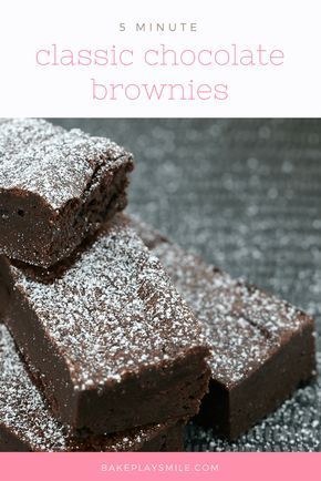These 5 Minute Chocolate Brownies are so rich and delicious... but best of all, they take no time at all to whip up! Bring on the chocolatey goodness!