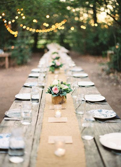 long wedding tables | Michelle Boyd