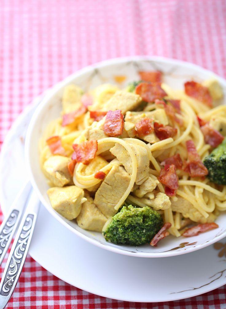 Kremet pasta med kylling og bacon | Sunnere Livsstil