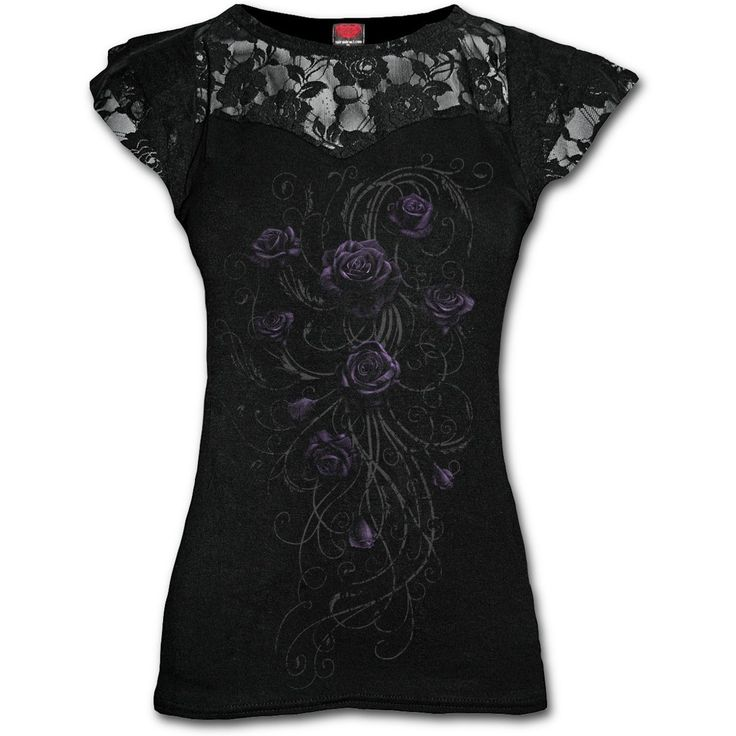 Entwined Cap Sleeve Top https://www.highvoltageclothing.com  #clothing #musthave #loveit #biker