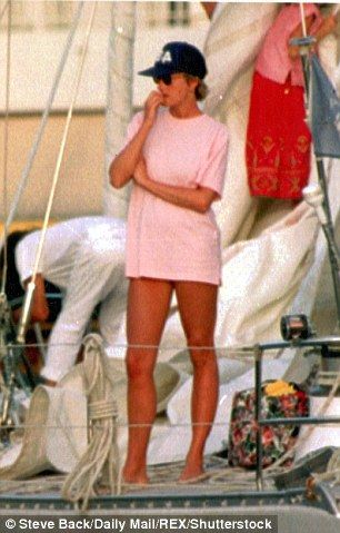 Diana is pictured staying at the £3million Caribbean home of Mr Demarchelier