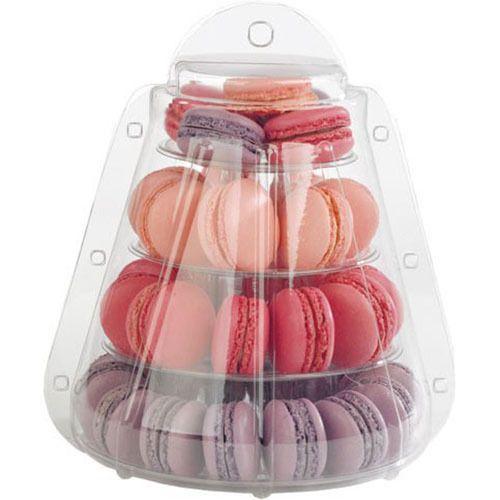 4 уровня пвх Macaron стенд с носит - из окна свадебные Macaron коробка печенья десерт держатель стойки для свадьбы день рождения ну вечеринку