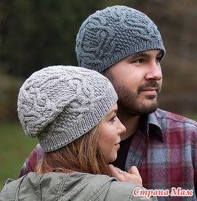 Две зимние шапки по готовым описаниям - Вязание - Страна Мам
