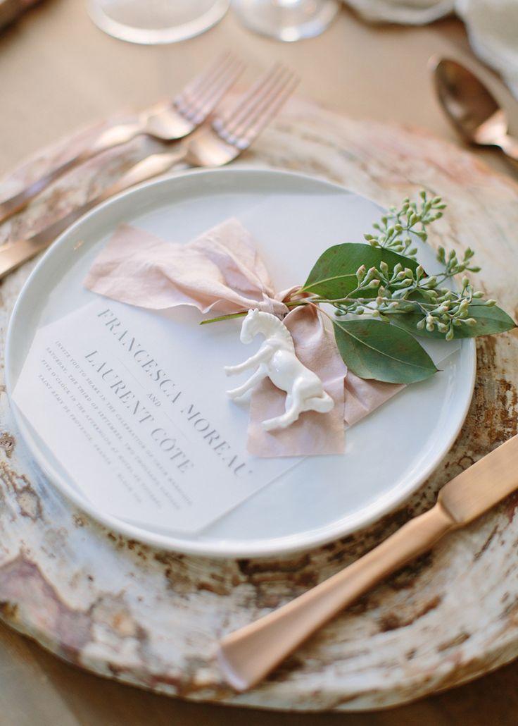 Blush and greenery wedding table setting: Photography: Larissa Cleveland - http://www.larissacleveland.com/home