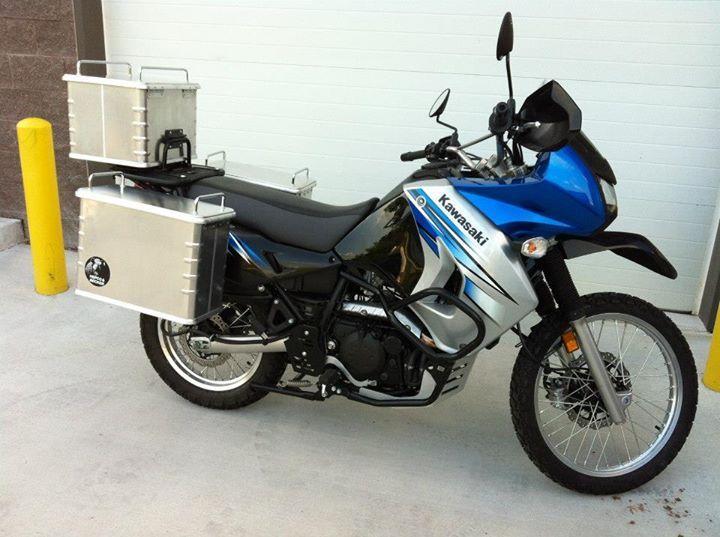 Kawasaki KLR650 with Hepco & Becker accessories