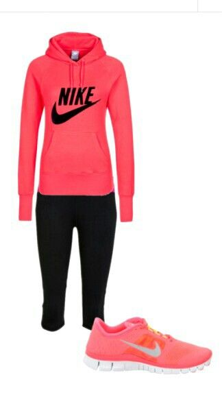 Comfortable Nike Outfit , nice pink nikes under $50        #cheap #nike #free